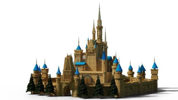 castle modelled 3D model