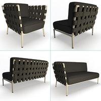 conic furniture set 3D model