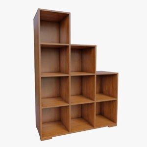 3D book shelve model