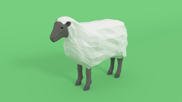 3D model cartoon sheep