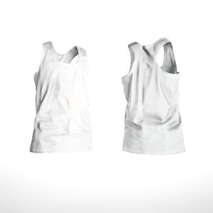 scanned white shirt size 3D