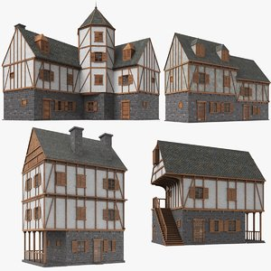 real medieval houses 3D