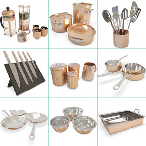 kitchen copper cooking tools model
