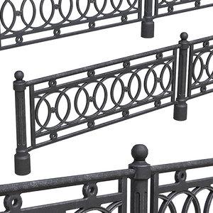 3D model fence pbr