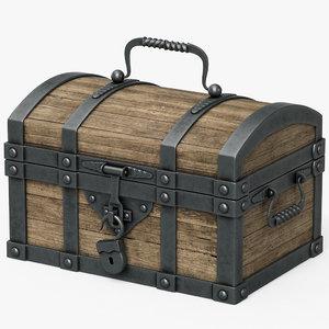 chest wood 3d model