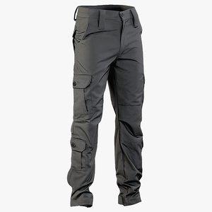 3D realistic black pants 1 model