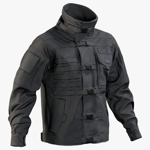 3D realistic black swat jacket