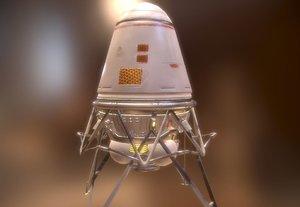 3D space lander model