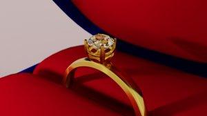 3D diamond ring case