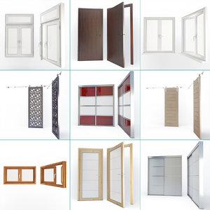 windows doors 01 3D model