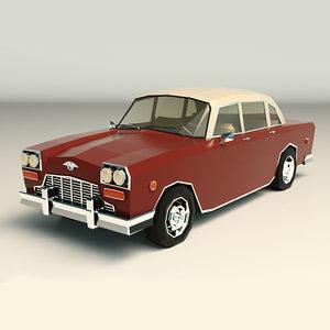 3D sedan car