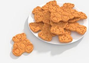 teddy bear biscuit 3D