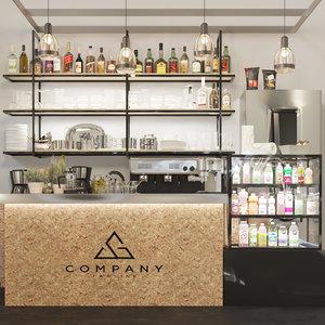 3D cafes restaurants bars