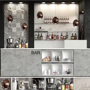 restaurants bars 3D model