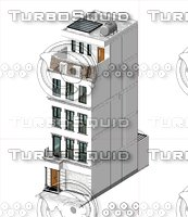 townhouse neoclassical architecture 3D model