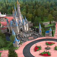cinderellas castle grounds model