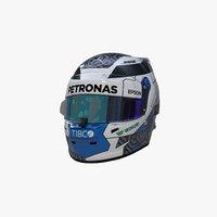 3D model 2019 bottas helmet