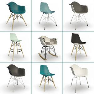 furniture eames set model