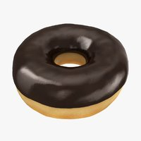 3D realistic ring donut chocolate model