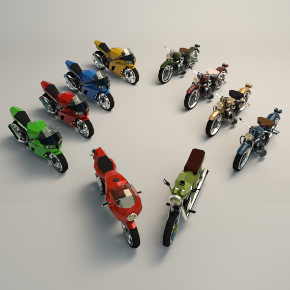 3D motorcycle moto model