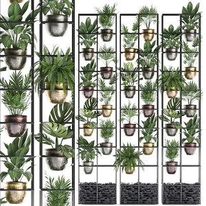plants vertical gardening 3D model