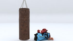 bag punch boxing 3D model