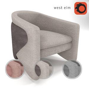 3D chair thea west elm