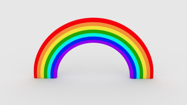 3D model colors rainbow