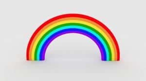 3D model colors rainbow