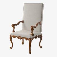 3D model armchair regence massant