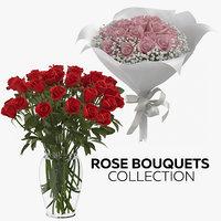 rose bouquets 3D model