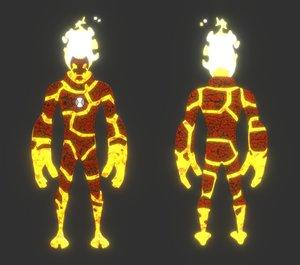 3D model heatblast ben 10