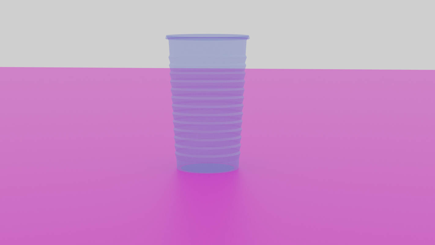 plastic cup 3D