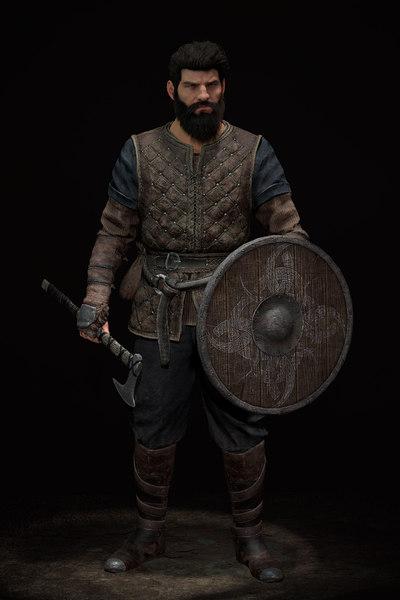 3D leo warrior