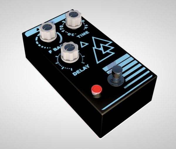 pedal guitar music instrument 3D model