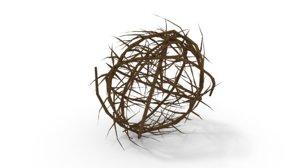 3D tumbleweed nature plant model