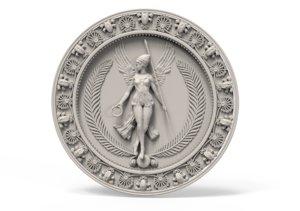 3D medallion