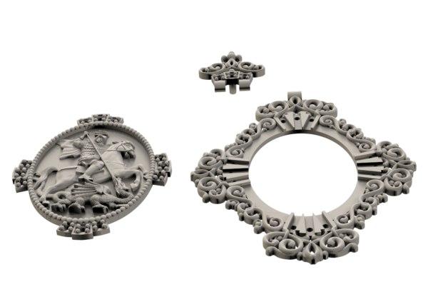 3D model medallion