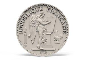 3D medallion coin