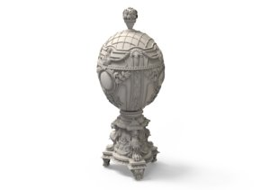 sculpture egg faberge 3D