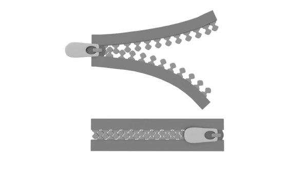 3D zipper