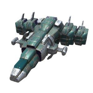 spaceships plasma corvette model