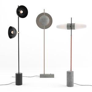 3D dawn floor lamp