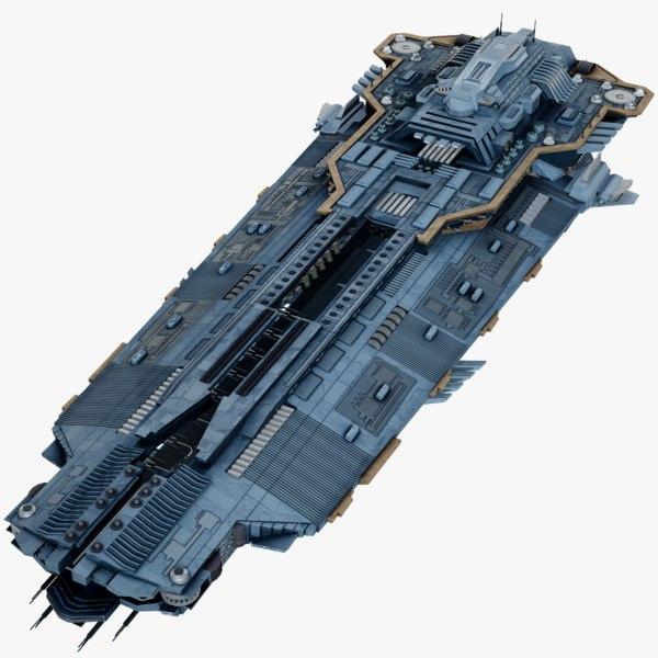 3D sci-fi spaceship space model