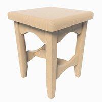 3D model generic stool