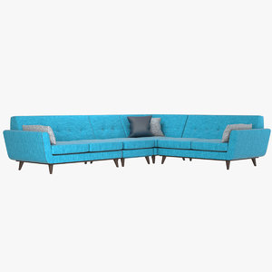 realistic joybird l sectional sofa 3D model