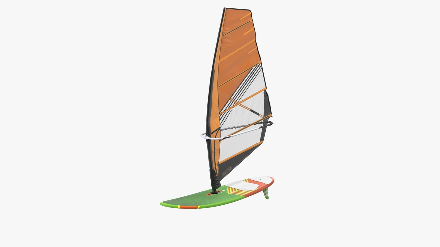 Sport Windsurf Board And Sail