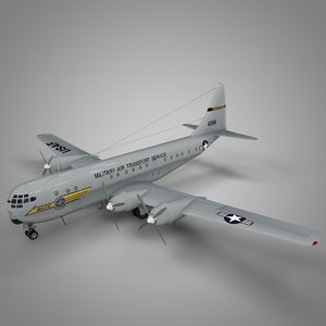 3D boeing 377 stratocruiser military