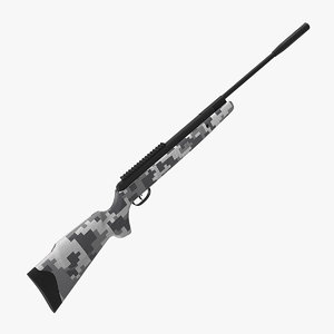 3D model camouflage air rifle generic
