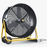 3D professional portable fan master model